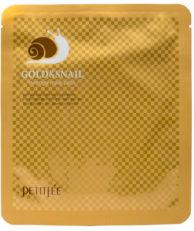 Petitfee Гидрогелевая маска с золотом и экстрактом улитки в одноразовой упаковке
