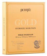 Petitfee Гидрогелевые маски для лица с золотом