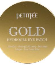 Petitfee Гидрогелевые патчи под глаза с 24-каратным коллоидным золотом