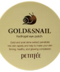 Petitfee Гидрогелевые патчи под глаза с муцином улитки и коллоидным золотом