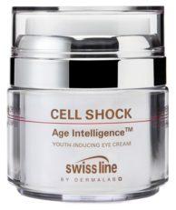 Swissline CELL SHOCK AGE INTELLIGENCE Омолаживающий крем для глаз Секретный код молодости